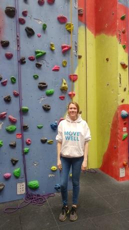 Image of Fiona inside Pinnacle Climbing Centre (Northampton)